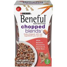 Purina's Beneful Chopped Blends - With Salmon, Tomatoes, Carrots and Wild Rice - 3.0 Oz Can - 3 Can Pack -- For you to view further for this item, visit the image link. (This is an affiliate link and I receive a commission for the sales)