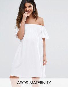 Rehearsal Dinner Dress - Bridal Shower Dress - #ad - ASOS Maternity Off Shoulder Mini Dress