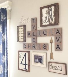 Oversized scrabble wall art                              …