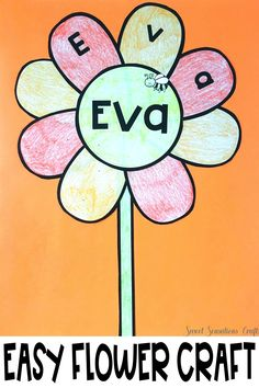 Easy personalized flower craft - perfect for spring and bulletin boards! In the time it takes to enter names into a form field create 20 individual flowers! Teaching Activities, Teaching Kindergarten, Teaching Resources, Teaching Ideas, Preschool, Spring Crafts, Holiday Crafts, Thing 1, English Language Arts