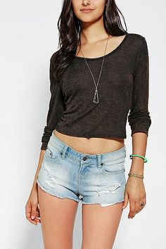 Ecote Fitted Ballerina Cropped Top