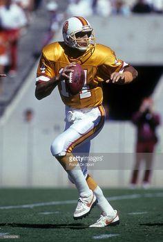 93d3eb907 Quarterback Vinny Testaverde  14 of the Tampa Bay Buccaneers 1990 .  Testaverde played for the