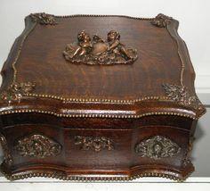 1800's antique jewelry box. #antique #vintage #box