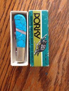 Porky's Turquoise Handle Pocket Knife