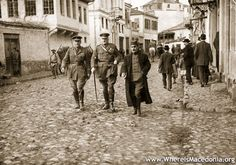 Prince Aleksandar I Karađorđević with Admiral Sir Thomas Troubridge Herbert in Bitola (Monastir), 19 – 22 November 1916