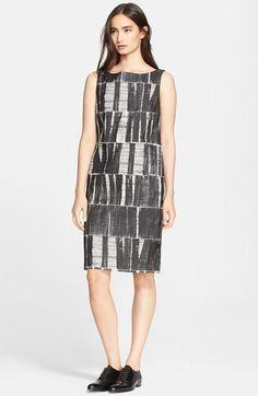 Max Mara 'Salvo' Cotton Blend Jacquard Shift Dress available at #Nordstrom