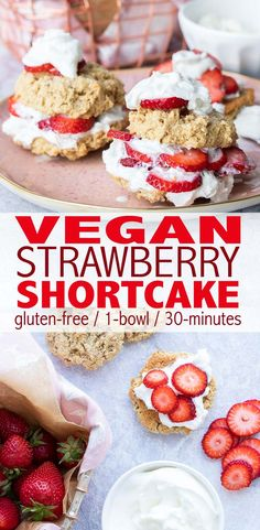 Slightly crisp on the outside, perfectly soft in the middle, vegan strawberry shortcake biscuits made in 30 minutes flat that will blow your mind. #vegan #glutenfree #norefinedsugar #healthydessert #wholefoods #plantbased via @veggiesdontbite