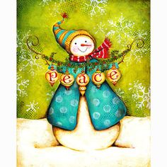 Snowman Print Bundle Collection Love Hope Joy di karladornacher