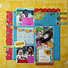 little yellow bicycle vintage summer collection Scrapbooking Layouts, Scrapbook Pages, Little Yellow Bicycle, Paper Crafts, Diy Crafts, Page Layout, Room Organization, Summer Collection, Lemonade