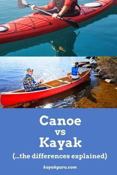 Kayak Accessories Ideas Canoe vs Kayak - Should you choose a kayak or a canoe? This guide goes into the history of the two water vessels and explains design, types and where and when each is suitable to different conditions. Kayak Camping, Canoe And Kayak, Canoe Trip, Camping Guide, Camping Ideas, Sea Fishing, Kayak Fishing, Fishing Boats, Kayak Deals