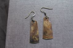 Oxidized Brass Earrings by YeouDesigns by YeouDesigns on Etsy