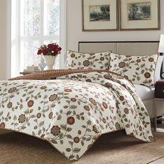 Stone Cottage Lauriston Quilt Set. @stonecottagebed #BeddingStyle #bedroom #floral #bedding