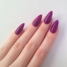 Matte purple stiletto nails, Nail designs, Nail art, Nails, Stiletto nails, Acrylic nails, Pointy nails, Fake nails, False nails