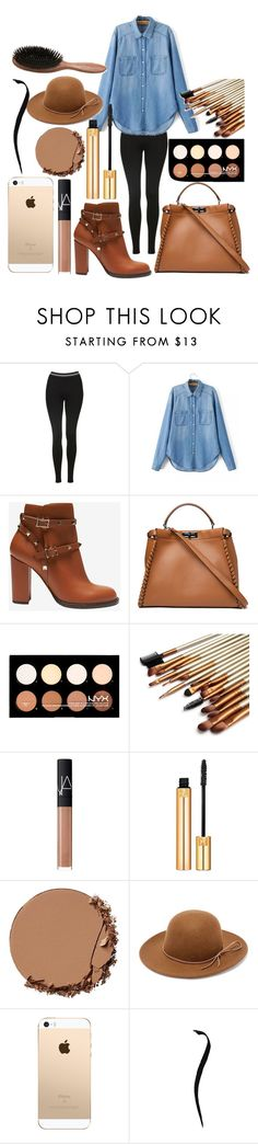 """Untitled #168"" by the-fashion-fantasy ❤ liked on Polyvore featuring Topshop, Valentino, Fendi, NYX, NARS Cosmetics, Yves Saint Laurent, Urban Decay, RHYTHM and Phyto"