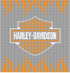 Cross Stitch Pattern Maker, Counted Cross Stitch Patterns, Cross Stitch Embroidery, Harley Davidson Decals, Harley Davidson Signs, Graph Crochet, Crochet Blanket Patterns, Corner To Corner Crochet Pattern, Cross Stitch Boards