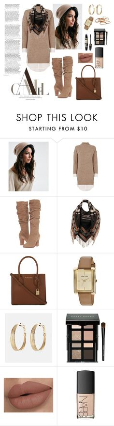 """""""Fall Coffee Date......."""" by shainaelaine ❤ liked on Polyvore featuring Brochu Walker, Steve Madden, Wilsons Leather, MICHAEL Michael Kors, Anne Klein, Avenue, Max Factor, Bobbi Brown Cosmetics, NARS Cosmetics and Kendra Scott"""