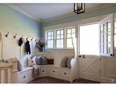 Possible door to the backyard. Use this look for the bottom of seating (the drawers)