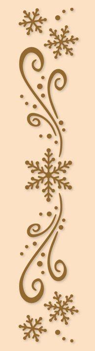 Leane Creatif - LeaCrea Design Embossing Folder - Border Snow,$3.79