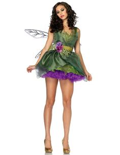Green Gorgeous Fairy Princess Halloween Costume LAVELIQ