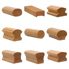 Hardwood handrail profiles are available in any wood species.  Custom wood handrails are our specialty.  We can produce commercial hardwood handrails in straight, bending, and tight radius versions.  Please send us your specifications for quotation.