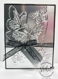 Embossing With Detailed Dies by France Martin - Cards and Paper Crafts at Splitcoaststampers Card Making Tips, Card Making Techniques, Making Ideas, Embossing Machine, Embossing Folder, Butterfly Cards, Butterfly Template, Butterfly Dragon, Embossed Cards