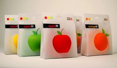 Designed by Tiffany Shih - i like the translucent nature of the packaging, bold colour, graphic of fruit Apple Packaging, Cool Packaging, Food Packaging Design, Packaging Design Inspiration, Brand Packaging, Packaging Ideas, Types Of Packaging, Branding, Graphic Design