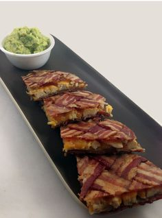 He'll love me forever...  3dible:  Bacon WEAVE Quesadilla Tutorial #bacon #weave #quesadilla