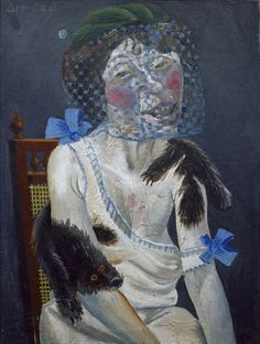 Otto Dix, Lady with Mink and Veil, 1920