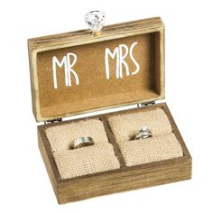 Vintage Rustic Wedding Ring Box