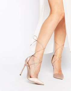 ASOS COLLECTION ASOS PROMISES Lace Up Pointed High Heels