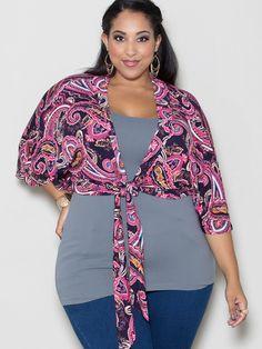 Sally Tie Cardigan Plus Size – SexyPlus Clothing
