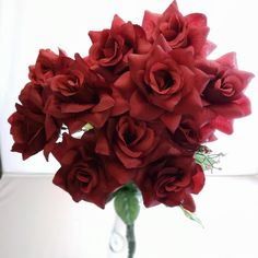 Burgundy RosesWine Artificial Roses 12 Stems Burgundy | Etsy Fake Flowers, Artificial Flowers, Purple Flowers, 12 Roses, Blue Roses, Burgundy Wedding Flowers, Valentine Bouquet, Renewal Wedding, Rose Stem