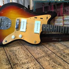 Can you imagine walking into a guitar shop in 1958 and seeing this? This is close to what it would look like! Super clean 1958 Fender Jazzmaster. Stunning. #fender #fenderjazzmaster ssvintage.com