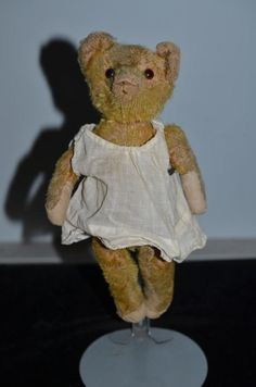 Old Teddy Bear Jointed Miniature Mohair ADORABLE