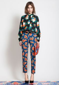 MSGM <3 I adore these pants! And yes, I would wear this top with them! Print on Print!