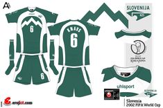 Slovenia away kit for the 2002 World Cup Finals.
