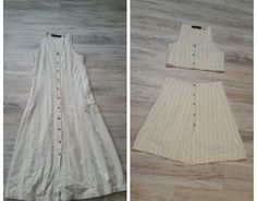 Use Dritz Liquid Stitch for this cool refashioning project that takes a thrift-store dress and turns it into a 2-piece beauty!