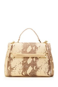 Ivanka Trump Embossed Snakeskin Print Kelly Handbag by Ivanka Trump on @HauteLook