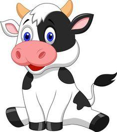 Vaca linda de estar animados
