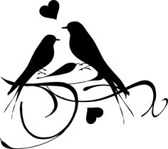 Bird Silhouette Tattoo | Birds On A Branch clip art - vector clip art online, royalty free ...