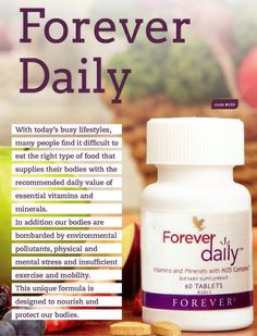 Forever Daily is a revolutionary system for nutrients delivery created in combination with Forever Living's original Aloe Vera oligosaccharide complex Forever Aloe Lips, Aloe Benefits, Aloe Berry Nectar, Aloe Drink, Sante Bio, Forever Living Business, Forever Living Aloe Vera, Aloe Vera Skin Care, Forever Life
