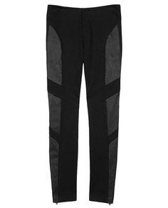 rag & bone leggings with lamb leather inserts | Spring 2013