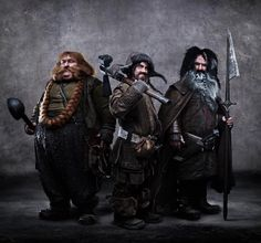 Bombur, Bofur e Bifur #LoHobbit #DesolazionediSmaug #TheHobbit #Hobbit