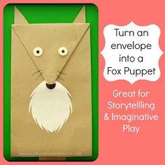 Sun Hats & Wellie Boots: Envelope Puppets - Fox & Reindeer