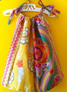 simple pillowcase style dress for baby girl