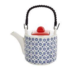 Carolyn Donnelly Eclectic Stencil Teapot Teapot, Color Patterns, Stencils, Kitchen Appliances, Dining, Decor, Style, Diy Kitchen Appliances, Swag