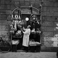 Bill Perlmutter Butcher Shop, Rome 1956
