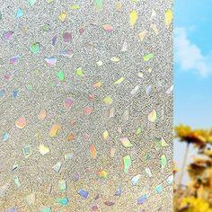 OstepDecor statische 2D Fensterfolie Dekorfolie Sichtschutzfolie, 90 x 200cm
