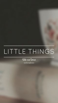 Little Things • Take Me Home Lockscreen — ctto: @stylinsonphones