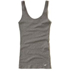 d626bc6f82 Hollister Must-Have Slim Scoop Tank (£7.50) ❤ liked on Polyvore featuring